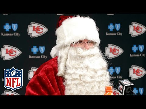 Video: Andy Reid as Santa Claus Talks About His Team After the Game! | Dolphins vs. Chiefs | NFL Wk 16