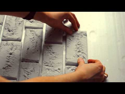 Декоративный кирпич из пенопласта своими руками