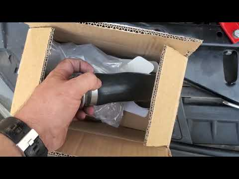 Charge tubes install on the 2011 BMW 550I/F10