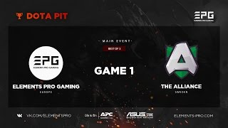 Elements Pro Gaming vs. The Alliance bo3 @ Dota Pit Game 1