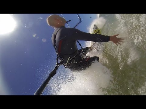 Kite Surfing Big Waves Capetown 2014 – GoPro 3rd Person View – Wave Kiting – Kiteboarding