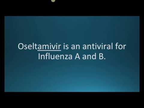 How to pronounce oseltamivir (Tamiflu) (Memorizing Pharmacology Flashcard)