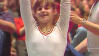 Nadia's floor exercise routine from the 1976 American Cup - Score: 10.00.