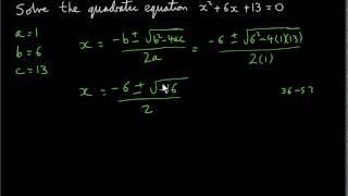 Complex Numbers - Quadratic Equations with Complex Solutions