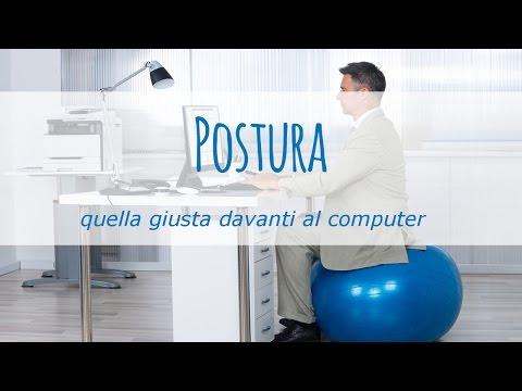 qual è la giusta postura davanti al computer?