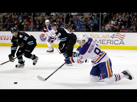 Video: Lucic's 3rd period hat trick gets Oilers past Sharks