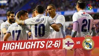 Video Highlights Deportivo de la Coruña vs Real Madrid (2-6) MP3, 3GP, MP4, WEBM, AVI, FLV Desember 2017