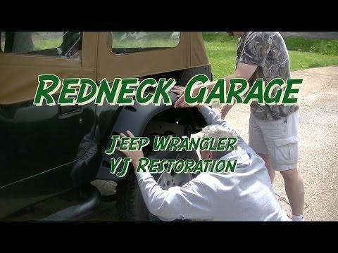 Rugged Ridge Fender Flares Install Jeep Wrangler YJ 11632.10