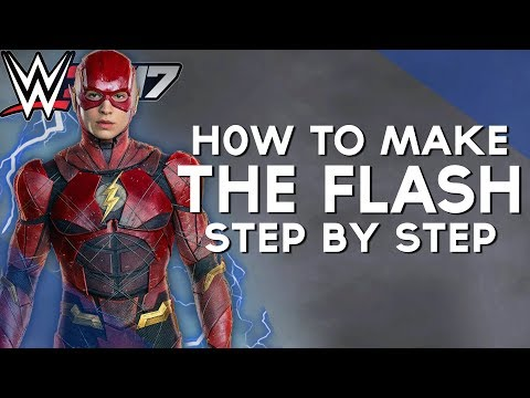 WWE 2K17 | HOW TO MAKE - THE FLASH [EZRA MILLER] 2017
