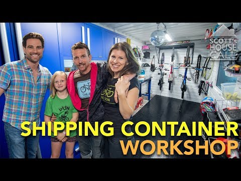 Shipping Container Workshop   Scott's House Call S3 (EP 6)