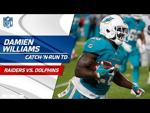 Video: DeVante Parker's Catch-'n-Run Sets Up Damien Williams' Diving TD! | Raiders vs. Dolphins | NFL Wk 9