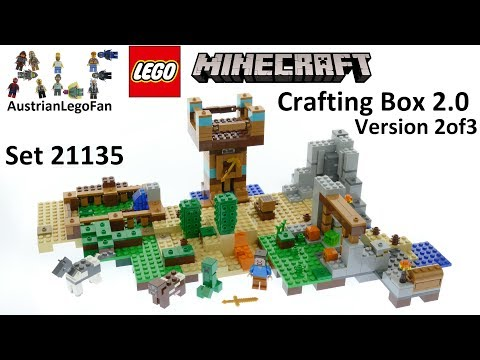 Lego Minecraft 21135 Crafting Box 2 0 Version 2of3 - Lego Speed Build Review