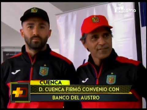 Deportivo Cuenca firmó convenio con Banco del Austro