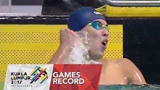 Video Swimming Men's 200m freestyle finals | Games Record | 29th SEA Games 2017 MP3, 3GP, MP4, WEBM, AVI, FLV Agustus 2017