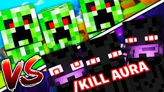 PRANKING WITH HACK CLIENTS IN MINECRAFT OP MONSTERS INDUSTRIES 2.0
