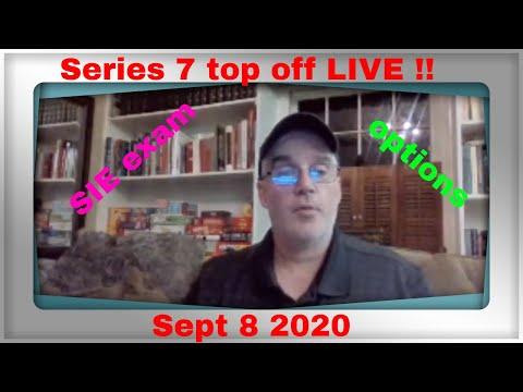 SIE exam prep  and Series 7 top off exam prep LIVE Q&A 2020