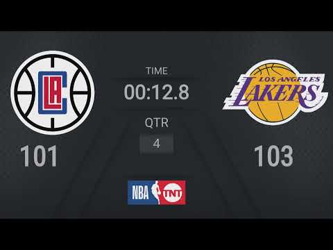 Clippers @ Lakers | NBA on TNT Live Scoreboard #WholeNewGame