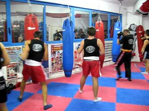Allenamento 2010 lavoro ai sacchi team Collovigh