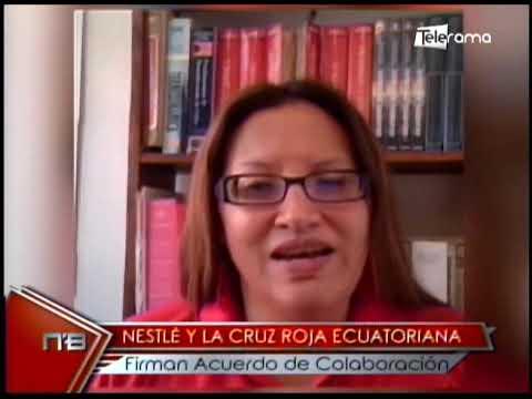 Nestlé y la Cruz Roja ecuatoriana firman acuerdo de colaboración