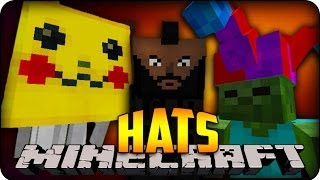 Minecraft Mods - HAT MOD - PIKACHU GHAST, JESTER ZOMBIE&MR.T THE ENDERMAN - Mod Showcase