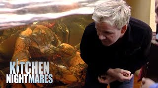 Gordon Reacts to Finding DEAD LOBSTER in the Fish Tank | Kitchen Nightmares