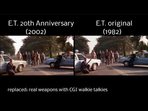 E.T. The Extra-Terrestrial-Comparison 1982 vs 2002 Anniversary