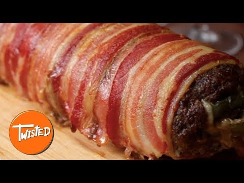 Bacon Wrapped Cheesesteak Meatloaf Recipe | Best Dinner Recipes | Homemade Meatloaf | Twisted