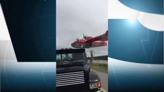 Be careful if you park on a bridge, especially if the nearby pond is being used to fill waterbombers. »»» Subscribe to CBC NL to watch more videos: https://www.youtube.com/c/cbcnl?sub_confirmation=1For your daily CBC NL news fix: https://www.cbc.ca/nlCBC NL on Twitter: https://www.twitter.com/cbcnlCBC NL on Facebook: https://www.facebook.com/cbcnl/CBC NL is now on YouTube. Join us for news, live events, commentary, daily weather, comedy, music, more. Connect with us about what you'd like to see here.
