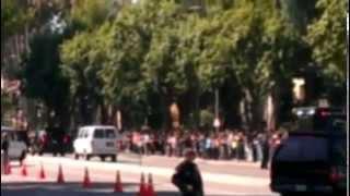 Woodland Hills (CA) United States  city images : President Obama leaving Hilton in Woodland Hills, CA