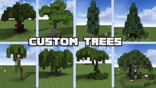 13 Custom Tree designs for MINECRAFT 1.14 Vanilla [WORLD DOWNLOAD]