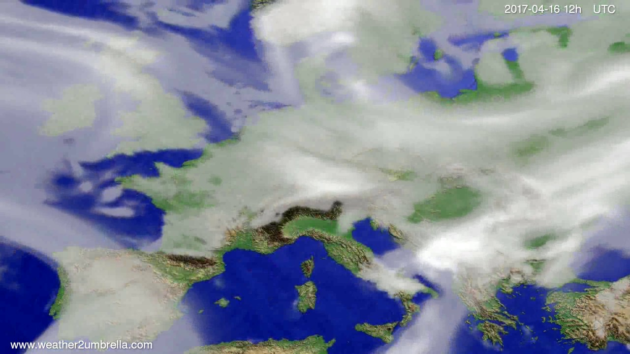 Cloud forecast Europe 2017-04-14