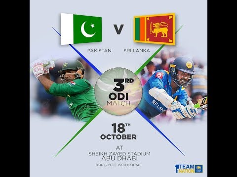 3rd ODI Pakistan v Sri Lanka in UAE, 2017 - Live