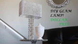 DIY Glam Lamp! Dollar Tree!
