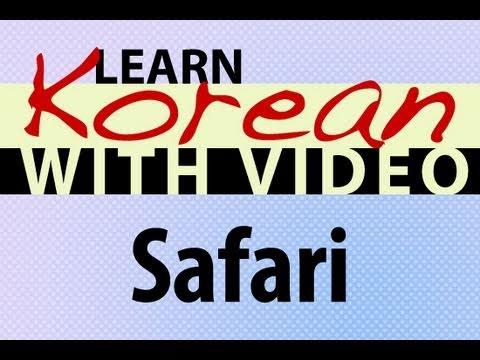 Safari - Koreanische Vokabeln