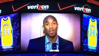 Kobe Bryant's Message to Shaq at his Jersey Retirement HD