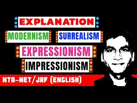 Explanation of Modernism, Surrealism, Impressionism & Expressionism (TGT/PGT/DSSSB/NET- English)