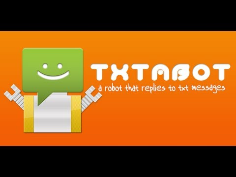 Video of Txtabot auto text sms reply
