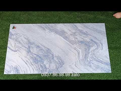 Gạch granite Tây Ban Nha 750x1500 màu xanh cao cấp tphcm