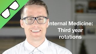 Hi, I'm student doctor Thompson, I'm a third year medical student. In this video I'm going to give you a heads up on some things to expect on your internal medicine rotation as well as the must have resources for doing well on the HUGE shelf exam that follows. Internal Medicine doctors, or Internists, deal with the prevention, diagnosis, and treatment of adult diseases.Residency training is 3 y, and average income is $229k. The top 5 conditions internists encounter statistically are 1 diabetes, Htn, heart disease, hyperlipidemia, and upper respiratory infections, with the real challenge being that many patients have multiple chronic Illnesses to manage. So I did a total of 8 weeks on Internal Medicine: 4 inpatient (in a busy hospital) and 4 outpatient (in a large private clinic).It was almost like two different specialties.Lets start off with inpatient. I worked one on one with a physician who worked really hard, spent extra time teaching me to write a bulletproof soap note, and do a perfect history and physical. We would usually have anywhere from 20-30 patients to care for and occasionally had help from mid level providers when we were swamped. I was personally assigned to 4-5 patients each day and had the opportunity to see them, write a note, and then present each of them to my attending. A Huge amount of knowledge is required and it was constantly challenging and new.Now for a little on outpatient. My experience was much more laid back. Many of the patients were suffering from similar illnesses and had a similar course of treatment.  In a way it seemed somewhat repetitive, like I already knew the patient even though I had actually never met them, I had just seen someone with similar needs. I saw a lot of patients who were there for a follow up on their diabetes,or for med refills. One challenge was that often patients came in with a list of questions and complaints (many of which we either couldn't address due to time, or had to shrug our shoulders or refer out because we didn't have the answer) and then without really being able to resolve their concerns, they left with a new medication or dose adjustmentand a follow up appointment in 3 months. It wasn't quite as challenging intellectually as inpatient but it had patient continuity and is a MUCH needed field of medicine. This rotation will surely challenge you on every level. The amount of knowledge required for the shelf exam is absolutely crazy. I don't say that to scare you because it was also my highest shelf exam score to date. But I think knowing the shelf covers way more material will help you stay on task in your studies and also do well. So let me tell you what resources I found to be helpful. RESOURCES: Most important - uWorld questions - 1381 (I studied during the last four weeks and only got through 600 questions (which is arguably too fast), so 1381 could easily take you 8 weeks to get through, BUT having 700 questions left to help study for step to isn't a bad idea either).2.      Case files - 60 cases, high quality, I got through probably 3 quarters of them. 3.  NOTHING ELSE - I didn't have time to use anything else, and I didn't want to get spread too thin.Conclusion - I hope you guys enjoy this rotation as much as I did, good luck on your shelf exam, even though it covers a ton of info, if you use the resources I suggested, you will do great!  Thanks for watching, see you soon.