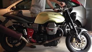 10. Moto Guzzi V11 Sport Engine Start