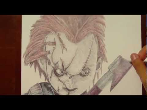 Drawing CHUCKY (CHILD'S PLAY) with Ballpoint Pen