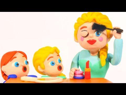 FROZEN ELSA NEW MAKE UP  Spiderman, Hulk & Frozen Elsa Play Doh Cartoons For Kids