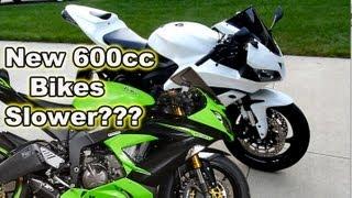 10. New 2013 600cc Bikes Slower - 2008 Honda CBR600rr VS New 600cc Bikes