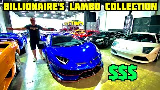 BILLIONAIRE SHOWS OFF BIGGEST LAMBORGHINI COLLECTION IN THE USA! *Rare* by Vehicle Virgins