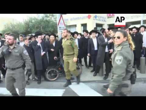 Israel Police End Protest By Ultra-orthodox Jews