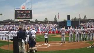 Charice - The Star Spangled Banner (LA Dodgers VS San Francisco GIANTS)
