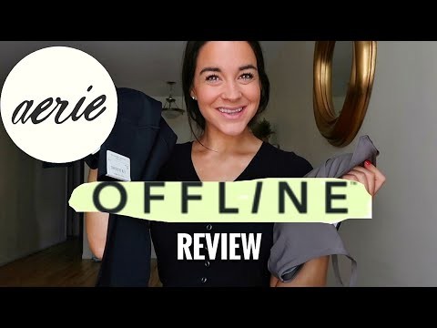 NEW AERIE OFFLINE COLLECTION leggings and active wear -  HONEST REVIEW and TRY ON!