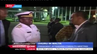 President Uhuru Kenyatta  in Malta to attend the  24th commonwealth  meeting.