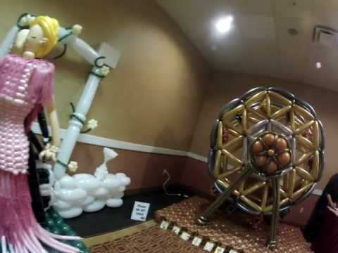 balloon convention - sculpture competition room at balloon convention Twist and Shout 2012, Tempe AZ, USA. Sheraton Phoenix Airport Hotel. done by the best balloon twisters in th...