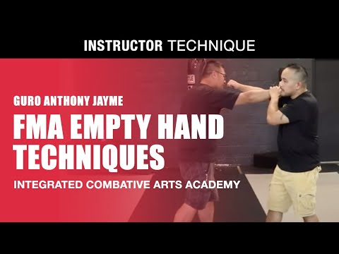 EMPTY HAND technique in  FILIPINO MARTIAL ARTS | Guro Anthony Jayme | ICA Academy